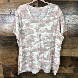 Lane Bryant pink camo t-shirt